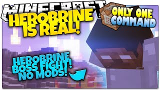 getlinkyoutube.com-Minecraft HEROBRINE SIGHTING | Herobrine Machinima Fight | Only One Command (Minecraft Vanilla Mod)