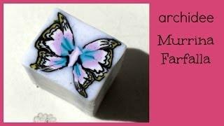 getlinkyoutube.com-Tutorial | Polymer Clay | DIY Butterfly Millefiori Cane | Murrina Farfalla