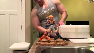 getlinkyoutube.com-DBZ Xceed Gogeta Fusion resin statue unboxing/review