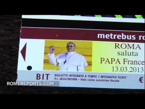 Rome marks Francis' pontificate with special edition bus pass