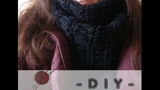 getlinkyoutube.com-DIY: Scaldacollo ai ferri facile e veloce (Maglia tutorial)