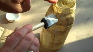 getlinkyoutube.com-Decoupage Jar Vase Craft Tutorial