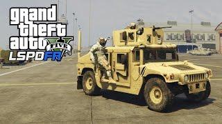 getlinkyoutube.com-GTA 5 - LSPDFR #7 - SQUADRA MILITARE (Fort Zancudo, Humvee, Colpo in banca...)