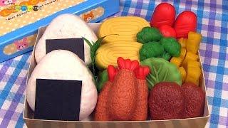getlinkyoutube.com-Bento (Lunch Box) made of Flour clay. 小麦ねんどで作るおべんとう