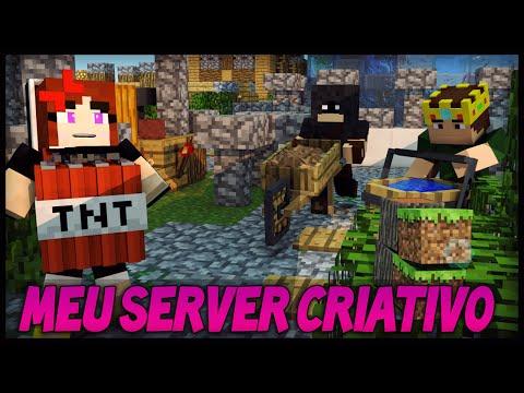 O MEU SERVIDOR CRIATIVO! - Minecraft