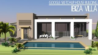 getlinkyoutube.com-Google Sketchup - Speed build - Ibiza Villa