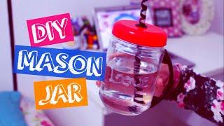 getlinkyoutube.com-DIY: Mason Jar (Muito fácil)