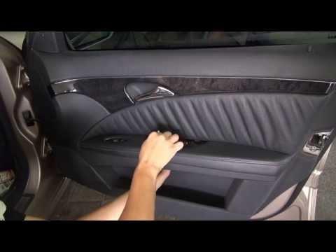 Как разобрать и снять дверь на Mercedes-Benz W211 (E 240)