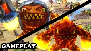 getlinkyoutube.com-Skylanders Superchargers - Lava Lance Eruptor & Elite Eruptor GAMEPLAY