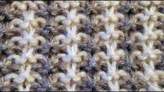 getlinkyoutube.com-Двухцветный узор спицами. patterns for knitting