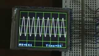 getlinkyoutube.com-Arduino Color TFT LCD Oscilloscope