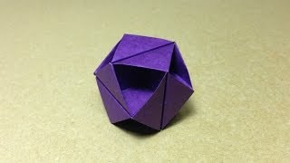 getlinkyoutube.com-Modular Origami Tutorial / Octahedron