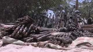 getlinkyoutube.com-Somali Security Forces and AMISOM recover arms from powerful Warlord
