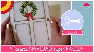 getlinkyoutube.com-Manualidad de Navidad: Como hacer una TARJETA de Navidad DIY hermosa y super FACIL