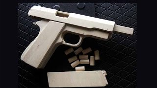 getlinkyoutube.com-Shell Ejection Rubber Band Gun - How  to make Government Type