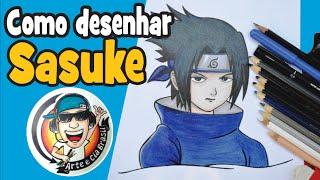 Como desenhar o SASUKE passo a passo