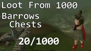 getlinkyoutube.com-Runescape 2007: Loot from 1,000 Barrows Chests! #1