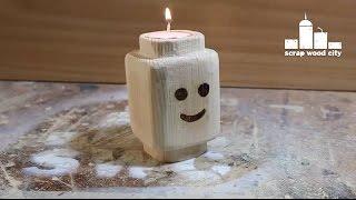 getlinkyoutube.com-Wooden Lego candle holder