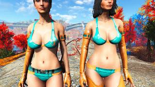 getlinkyoutube.com-Fallout 4 Mod Review 85 - TES-51 Skyrim Power Armor and CROSS Tactical Swimwear - Boobpocalypse