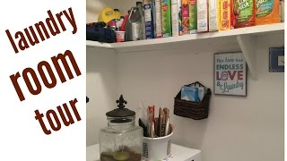 Laundry Room Tour | Organizing in a Small Space