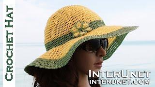 getlinkyoutube.com-How to crochet summer sun protective hat