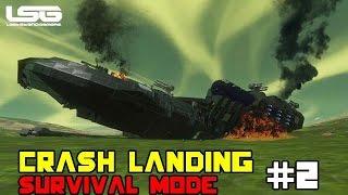 getlinkyoutube.com-Space Engineers - Crash Landing Shipwrecked SE4 - Part 2
