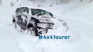 getlinkyoutube.com-Extreme Snow Off Road with Snow Chains - Mitsubishi Pajero Sport/Montero/Challenger Sport