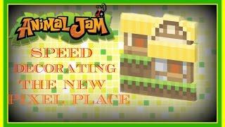 getlinkyoutube.com-Animal Jam: Speed Decorating The New Pixel Place Den!