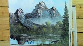 getlinkyoutube.com-Mirror Mountain Painting With Magic wet on wet oil painting full show season 3 ep 3