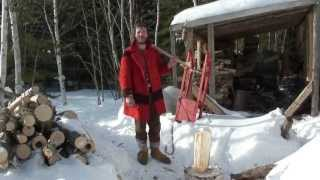 getlinkyoutube.com-LIVING IN THE WOODS! 19TH CENTURY LIFESTYLE! QC CANADA!