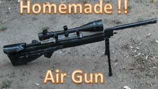 getlinkyoutube.com-HOMEMADE Air Power Sniper Rifle  Basic Tutorial PVC Air gun POWERFUL !!