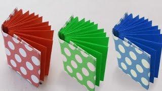 getlinkyoutube.com-DIY Project Ideas : How to Make a Mini Origami Book | Kids Crafts Simple Origami