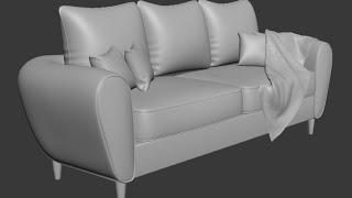 getlinkyoutube.com-3dsmax Sofa and pillow modeling
