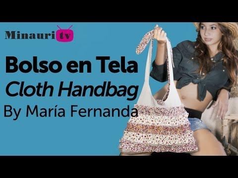 DIY - Bolso en Tela by Minauri ( How to make fabric handbag ) ( sew / purse / wallet / tote )