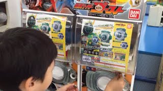 getlinkyoutube.com-仮面ライダーゴースト (Kamen Rider Ghost)ガチャポンでロビンとニュートンが出たので、キラキラメッキverのアイコンを狙ってチャレンジ!