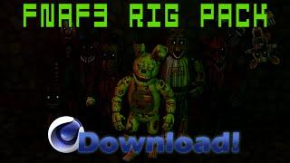 getlinkyoutube.com-Cinema4D Five Nights at Freddy's 3 Rig Pack!