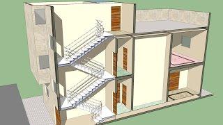getlinkyoutube.com-شرح طريقة رسم الدرج في برنامج اسكتش أب .. Sketch Up