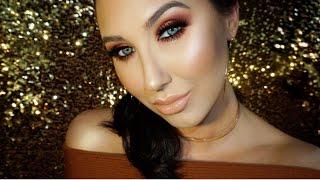 getlinkyoutube.com-Copper Red Smokey Eye With Gold Glitter Tears | Jaclyn Hill