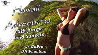 getlinkyoutube.com-GoPro Hero 3+ and DJI Phantom ~ Hawaii Adventures ~ Cliff Jumping and Sunset Flights