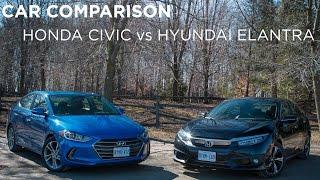 Car Comparison | Honda Civic vs Hyundai Elantra | Driving.ca