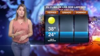 CLIMA VIERNES 14 DE JULIO PARA LOS DOS LAREDOS