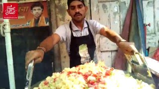 getlinkyoutube.com-How It's Made - Pav Bhaji - Tawa Pulav - Masala Pav at Lower Parel West - Yummy Street Food