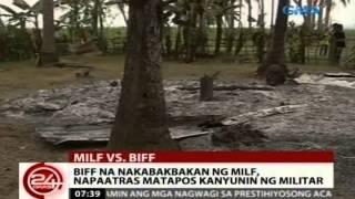 24 Oras: BIFF na nakabakbakan ng MILF, napaatras matapos kanyunin ng militar