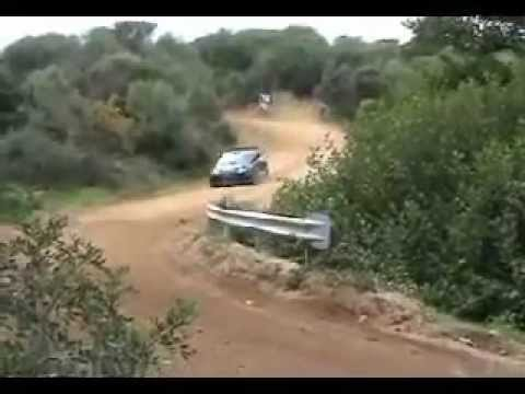 Abarth (Fiat) Grande Punto Super 2000 testing on Gravel