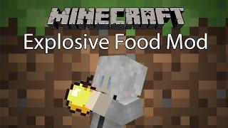 getlinkyoutube.com-Minecraft Mod รีวิว - Mod อาหารระเบิด   Explosive Food Mod