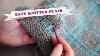 getlinkyoutube.com-How to Knit Plaid