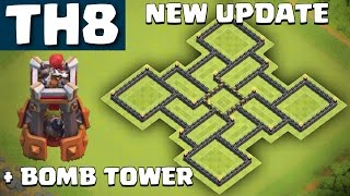 getlinkyoutube.com-NEW TH8 Farming base WITH BOMB TOWER UPDATE - Clash of Clans