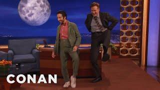 getlinkyoutube.com-Simon Helberg & Conan Do The High Pants Walk  - CONAN on TBS