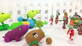 Plants VS Zombies Mad Battle with Shooting Toys