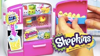 getlinkyoutube.com-Shopkins So Cool Fridge Playset Season 2 Unboxing and Review - Kids Toys